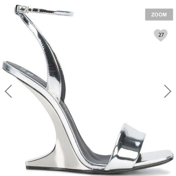 1b1e80f0099 Giuseppe Zanotti Shoes - Giuseppe Zanotti Garconne Silver Sandals🥇